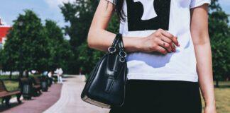 czarna torebka ze skóry